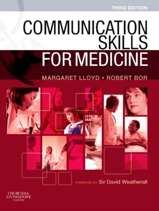 Communication Skills for Medicine, 3rd revised edition