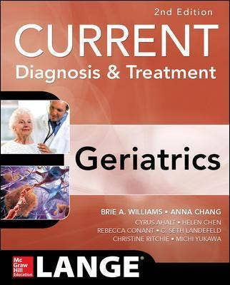 Current Diagnosis and Treatment: Geriatrics,2nd revised edition